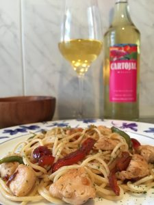 Espaguetis con pollo 2