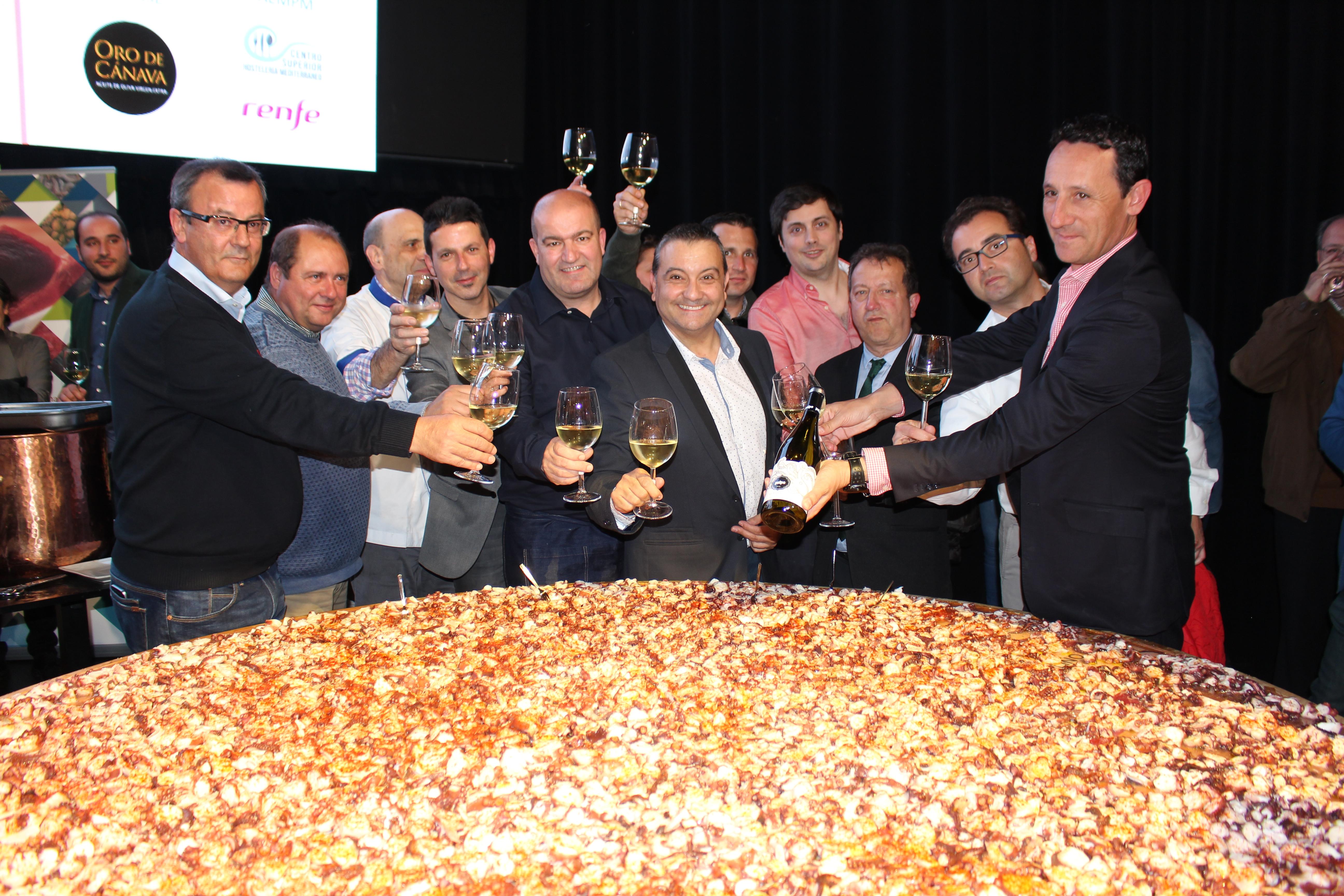 Madrid elabora el plato más grande de Pulpo a Feira con 110 kg de pulpo